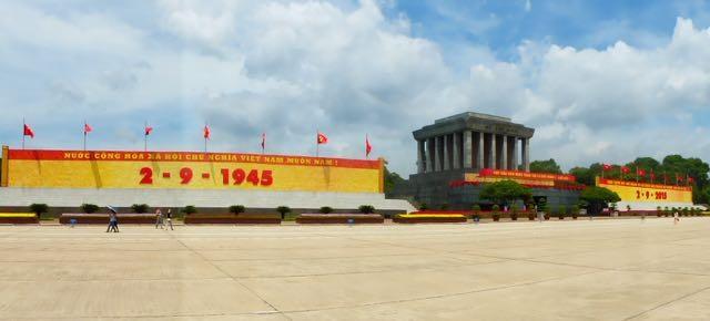 Ho Chi Minh Mausoleum celbrating 70 years of Japanese freedom